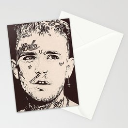 Lil Peep art Stationery Cards