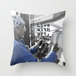 live with art Throw Pillow