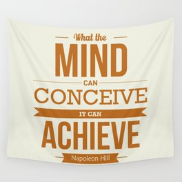 Lab No. 4 - Napoleon Hill Success Quotes Inspirational Poster Wall Tapestry