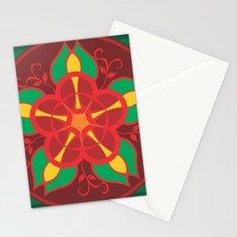 Mandala Flower by FreddiJr Stationery Cards
