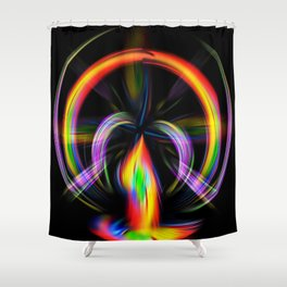 Digital Painting Fire Shower Curtain