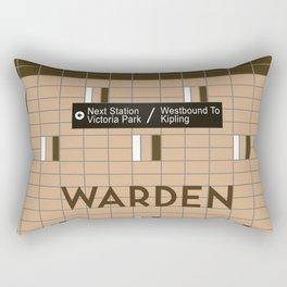 WARDEN | Subway Station Rectangular Pillow