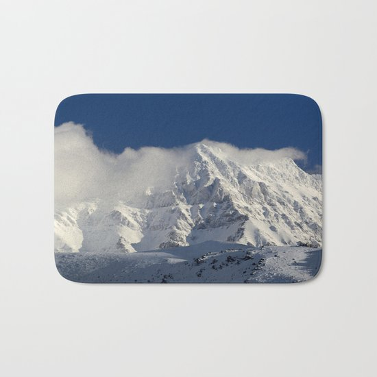 """Foggy mountains"". Alcazaba  mountain 3371 meters Bath Mat"
