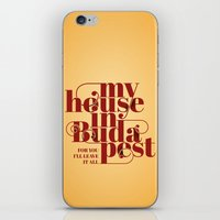 budapest iPhone & iPod Skins featuring Budapest by Lowso