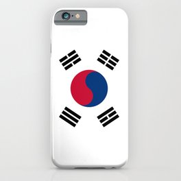 South Korean flag - officially the Republic of Korea, Authentic version - color and scale iPhone Case