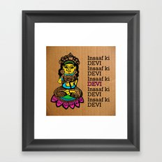 Indian goddess  Framed Art Print
