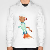 space cat Hoodies featuring Space Cat by Stephanie Fizer Coleman
