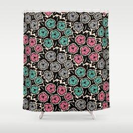 Mid Century Modern Flower Bouquet Pattern 948 Shower Curtain