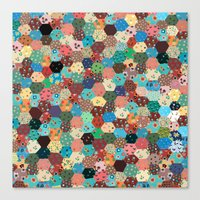 quilt Canvas Prints featuring Quilt by Tye Cottage Shop