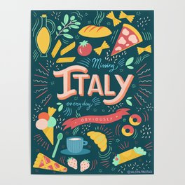 Missing Italy everyday poster Poster