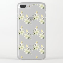 Pied Cockatiel Clear iPhone Case