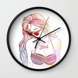 summerII *GirlsCollection* Wall Clock
