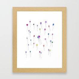Party Balloons Framed Art Print