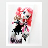 monster high Art Prints featuring Monster High  by Jessica Yakamna