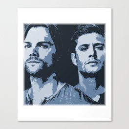 Sam and Dean - (Blue) Canvas Print