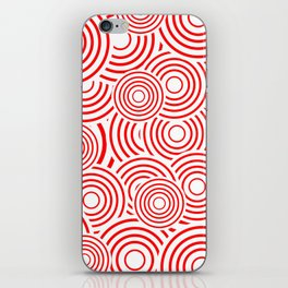 circles in red and white iPhone Skin