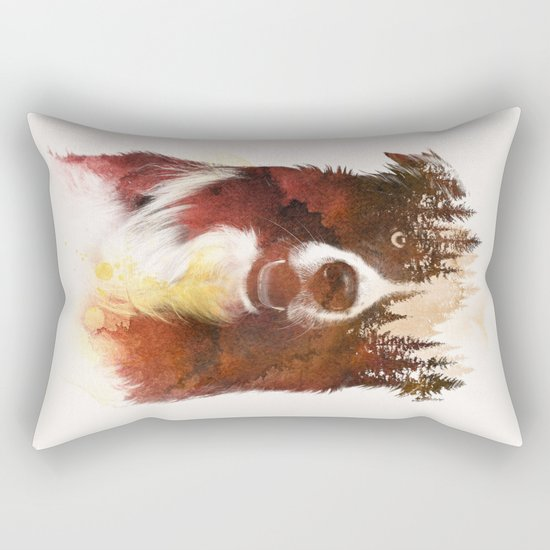 One night in the forest Rectangular Pillow