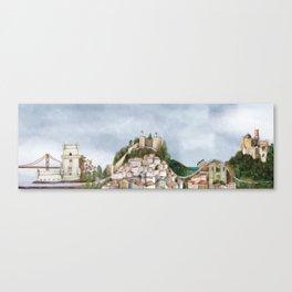 Lisboa landscape Canvas Print