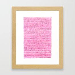 Sea of pink - a handmade pattern Framed Art Print