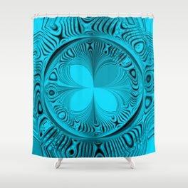 Blue Tile Shower Curtain
