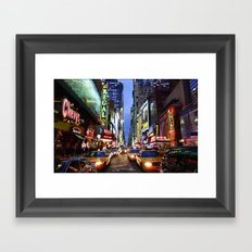 'Times Square NYC' Framed Art Print