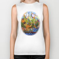 happiness Biker Tanks featuring Happiness by Vargamari