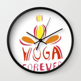 yoga forever Wall Clock