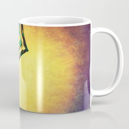 Exclamation Mark with psychedelic flowers Coffee Mug