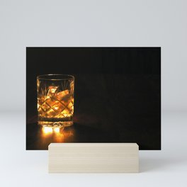 Scotch in the dark Mini Art Print