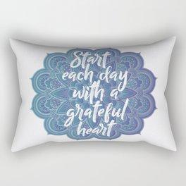 Gratitude Mandala Rectangular Pillow