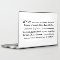 writer Laptop & iPad Skins featuring Writer by Thoughts from behind the Lens