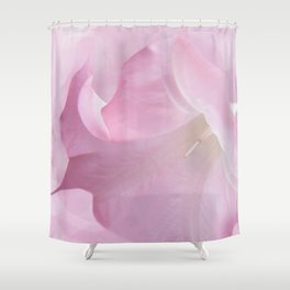 Pink Moonflower Shower Curtain