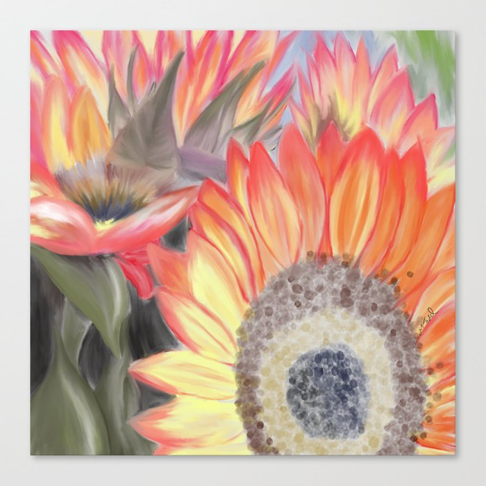 Fall Sunflowers Canvas Print