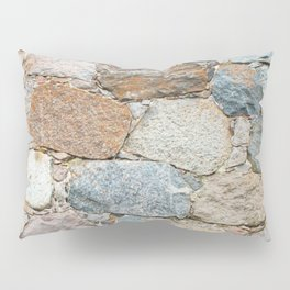 old wall from field stones Pillow Sham