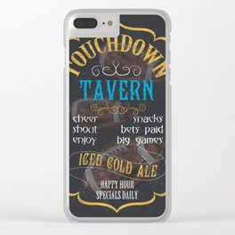 Touchdown Tavern Clear iPhone Case