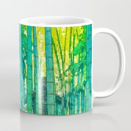 Yoshida Hiroshi Bamboo Grove Vintage Japanese Woodblock Print Bright Green Bamboo Landscape Forest Coffee Mug