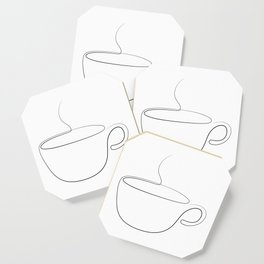 coffee or tea cup - line art Coaster