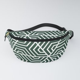 Phthalo green - green - Geometric Seamless Triangles Pattern Fanny Pack