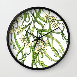 Butterflies In Flowers Wall Clock