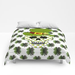 St Paddys Skull - St Patrick's Day Comforters