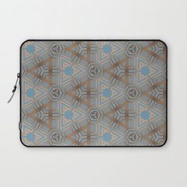 Beige and Blue Contemporary Tribal Pattern Laptop Sleeve
