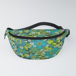 Flower power blue Fanny Pack