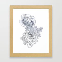 Modern Geometric Feather Artwork Framed Art Print