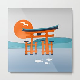 Japanese Shinto at Morning Metal Print