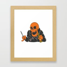 Antifa Skull Framed Art Print