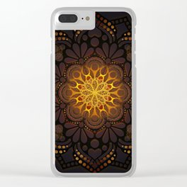 """Warm light Moroccan lantern Mandala"" Clear iPhone Case"