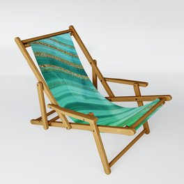 Ocean Blue And Green Mermaid Glamour Marble Sling Chair