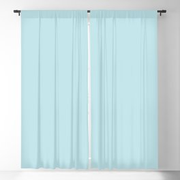 Annas Dream Solid Soft Powder Blue Blackout Curtain