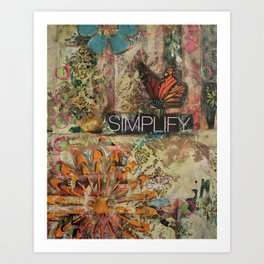 Simplify Art Print