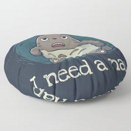 Monday Mood // Sleepy Forest Spirit, Lazy, Procrastination Floor Pillow